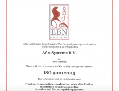 ISO 9001 AF-X Systems